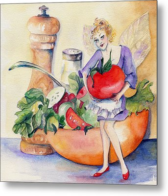 Kitchen Faery Metal Print