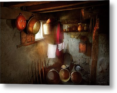 Metal Print featuring the photograph Kitchen - Homesteading Life by Mike Savad