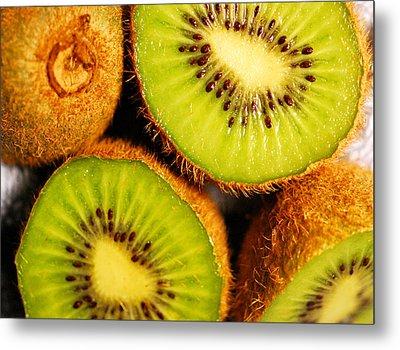 Kiwi Fruit Metal Print by Nancy Mueller