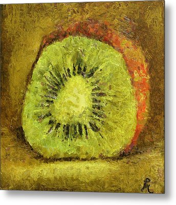 Kiwifruit Metal Print by Dragica  Micki Fortuna