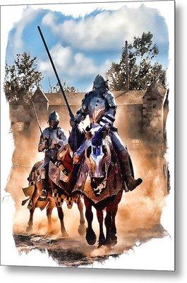 Knights Of Yore Metal Print by Tom Schmidt
