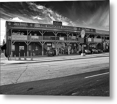 Metal Print featuring the photograph Knuckle Saloon Sturgis by Richard Wiggins