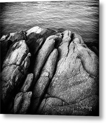 Ko Samet Rocks In Black Metal Print by Joseph Westrupp