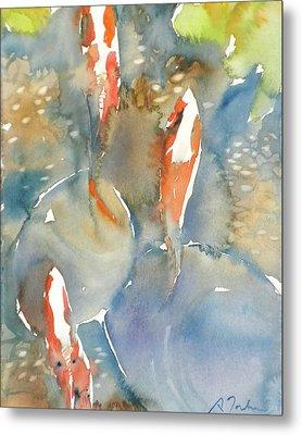 Koi Fish No.9 24x30 Metal Print by Sumiyo Toribe