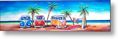 Kombi Club Metal Print