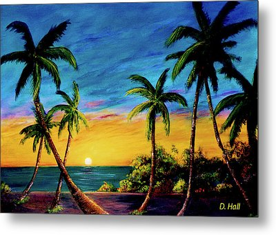 Ko'olina Sunset On The West Side Of Oahu Hawaii #299 Metal Print by Donald k Hall