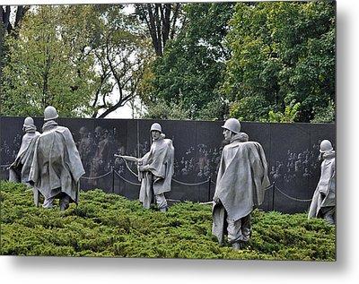 Korean War Memorial 4 Metal Print by Teresa Blanton