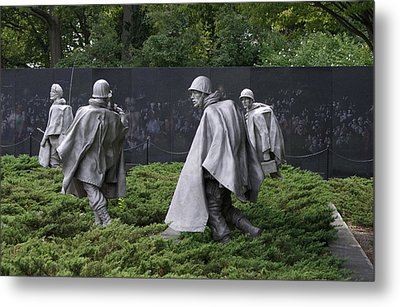 Korean War Veterans Memorial Metal Print