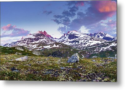 Metal Print featuring the photograph Crimson Peaks by Dmytro Korol