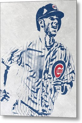 kris bryant CHICAGO CUBS PIXEL ART 2 Metal Print by Joe Hamilton