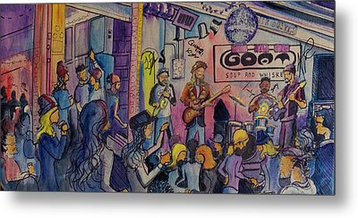 Kris Lager Band At The Goat Metal Print by David Sockrider