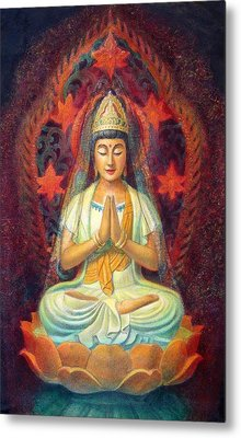 Kuan Yin's Prayer Metal Print by Sue Halstenberg