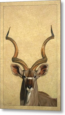 Kudu Metal Print by James W Johnson
