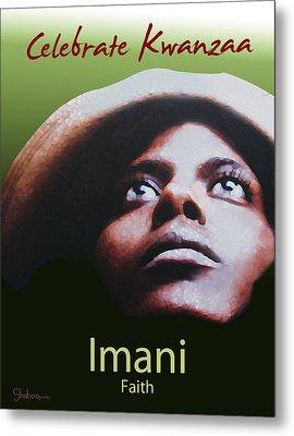 Kwanzaa Imani Metal Print