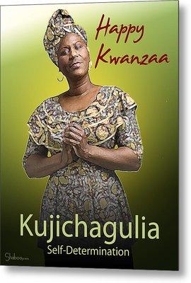 Kwanzaa Kujichagulia Metal Print by Shaboo Prints