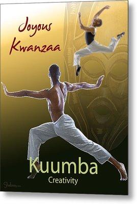 Kwanzaa Kuumba Metal Print