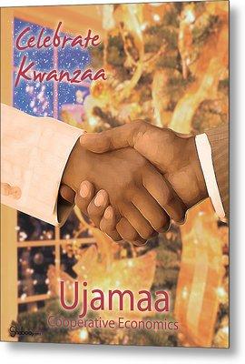 Kwanzaa Ujamaa Metal Print