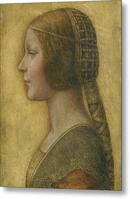La Bella Principessa - 15th Century Metal Print by Leonardo da Vinci