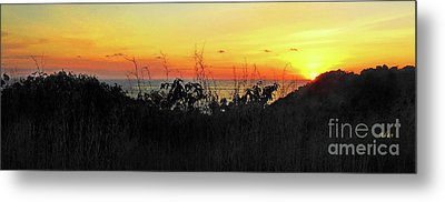 la Casita Playa Hermosa Puntarenas Costa Rica - Sunset A Panorama Metal Print by Felipe Adan Lerma