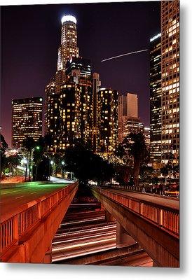 La City Lights Metal Print