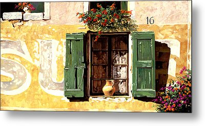 la finestra di Sue Metal Print by Guido Borelli