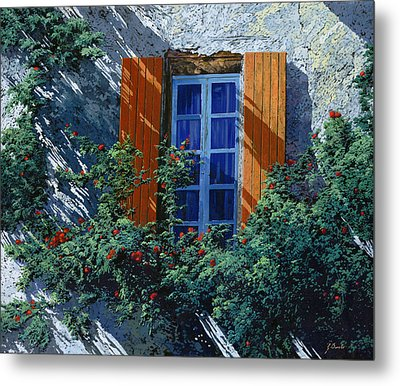 La Finestra E Le Ombre Metal Print by Guido Borelli