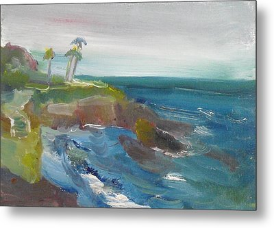 Metal Print featuring the painting La Jolla Cove 028 by Jeremy McKay