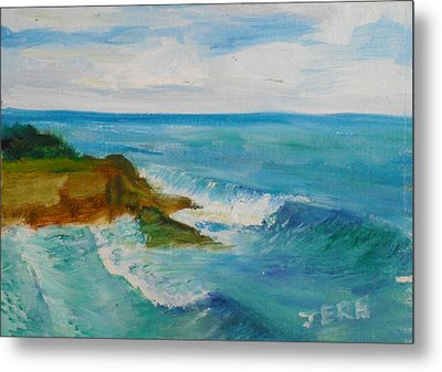 Metal Print featuring the painting La Jolla Cove 029 by Jeremy McKay