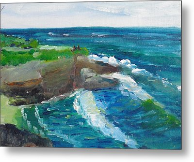 Metal Print featuring the painting La Jolla Cove 031 by Jeremy McKay