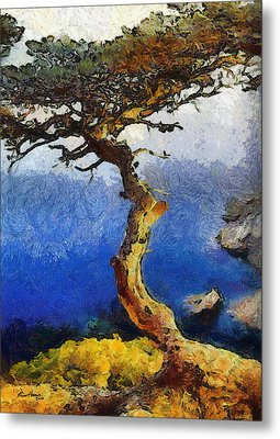 La Jolla Torrey Pines  Metal Print by Russ Harris