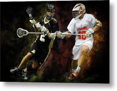 Lacrosse Close D #2 Metal Print