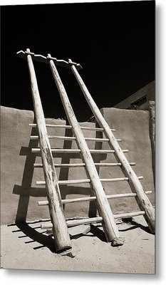 Metal Print featuring the photograph Ladder To The Sky by Gary Cloud