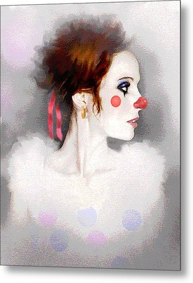 Lady Clown Metal Print by Robert Foster