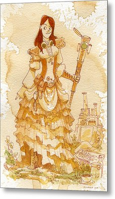Lady Codex Metal Print by Brian Kesinger