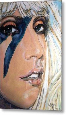 Lady Gaga 1 Metal Print by Misty Smith