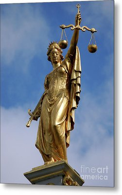 Metal Print featuring the photograph Lady Justice In Bruges by RicardMN Photography