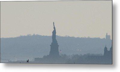Lady Liberty A Metal Print by Hasani Blue
