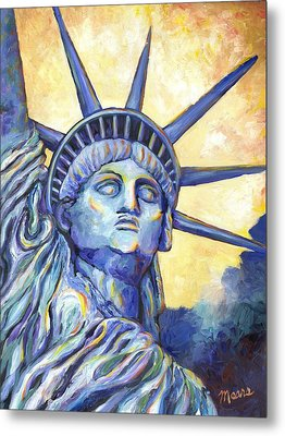Lady Liberty Metal Print by Linda Mears