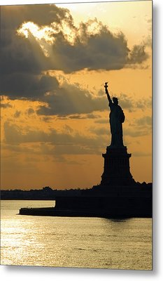 Lady Liberty Metal Print by Michael Flood