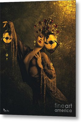 Lady Of The Golden Lamps Metal Print