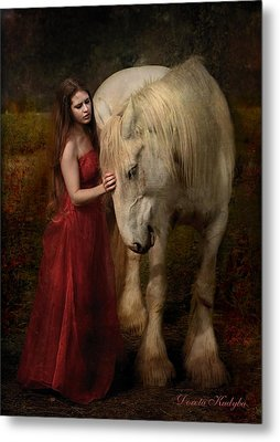 Metal Print featuring the photograph Lady With An Ermine  by Dorota Kudyba