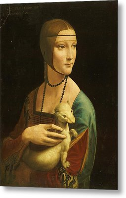 Lady With Ermine Metal Print by Pg Reproductions