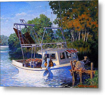 Lafitte Skiff Metal Print by Kevin Lawrence Leveque