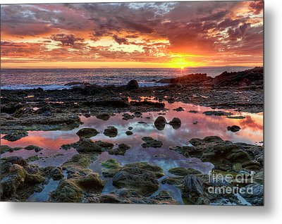 Metal Print featuring the photograph Laguna Beach Tidepools At Sunset by Eddie Yerkish
