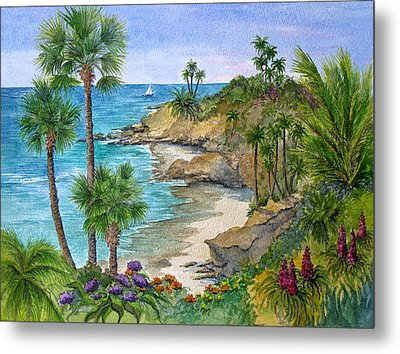 Laguna Beach Vista Metal Print by Bonnie Sue Schwartz