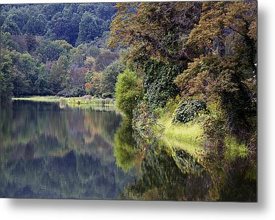 Metal Print featuring the photograph Lake Abbott Reflections by Alan Raasch