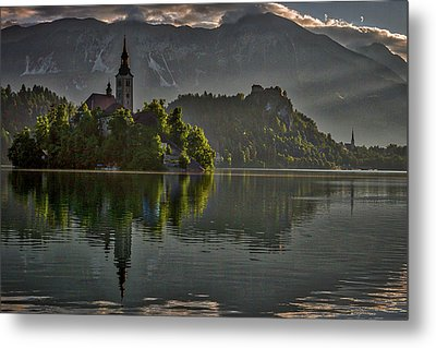 Metal Print featuring the photograph Lake Bled Morning #3 - Slovenia by Stuart Litoff