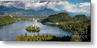 Metal Print featuring the photograph Lake Bled Pano by Brian Jannsen