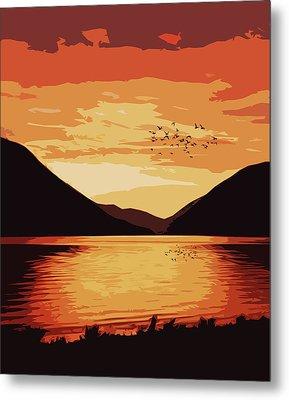 Lake Crescent - Landscapes Of America Metal Print
