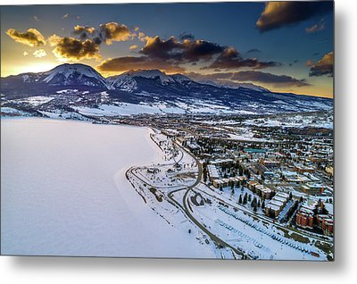 Lake Dillon Sunset Metal Print by Sebastian Musial